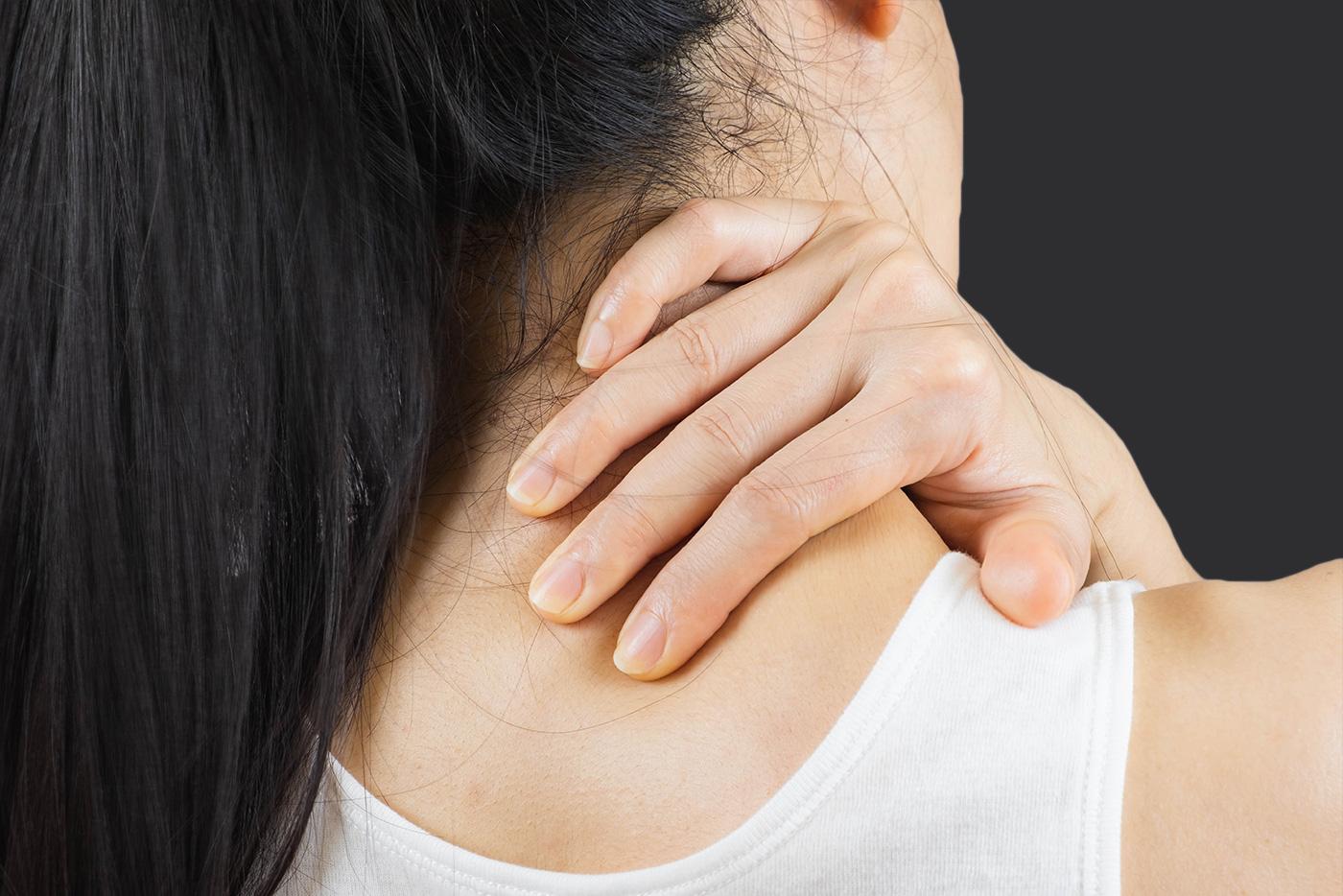 Nackenmassage für agilen Nacken