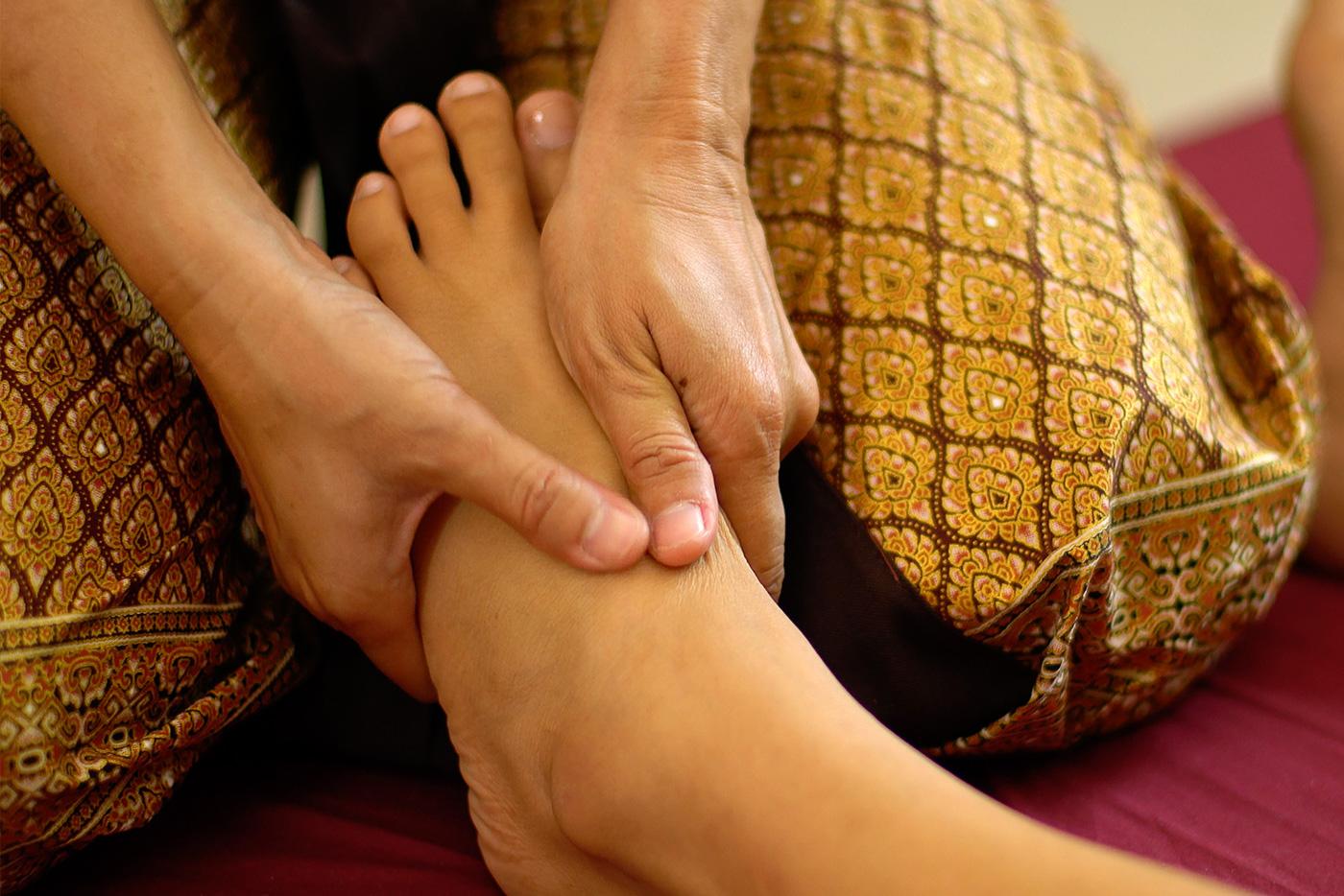 Fußreflexzonenmassage Thai reflex, Fußmassage